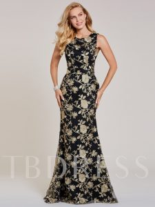 Appliques Lace Mermaid Evening Dress