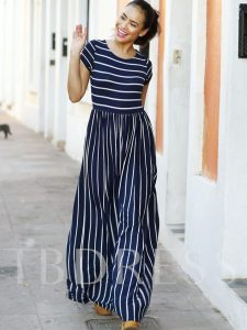 Stripe Color Block Ankle-Length