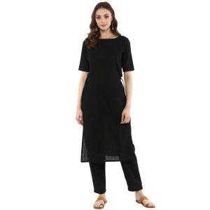 Idalia Women cotton slub Black