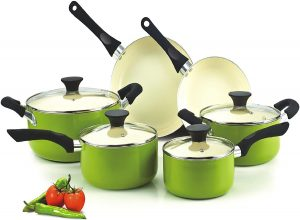 Cook N Home NC-00358 Nonstick Ceramic Coating 10-Piece Set