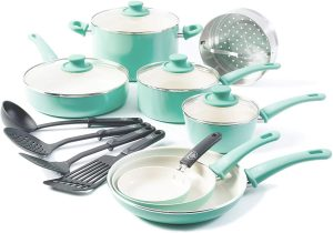 Rachael Ray 16344 Cucina Nonstick Cookware Pots and Pans Set