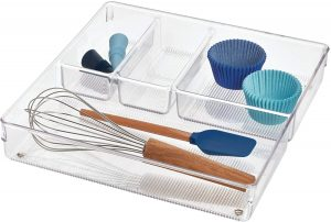 iDesign Linus Kitchen Drawer Organizer for Silverware, Spatulas, Gadgets