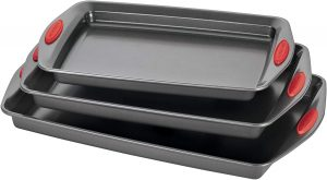 Rachael Ray 47423 Bakeware Set Nonstick Cookie Baking Sheets