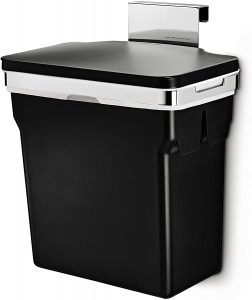 simplehuman, Black 10 Liter / 2.6 Gallon In-Cabinet Trash Can