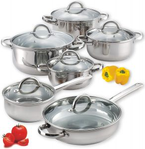 Cook N Home NC-00250 12-Piece Stainless Steel , Silver