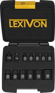 LEXIVON E-TORX Socket Set, Chrome Vanadium Alloy Steel