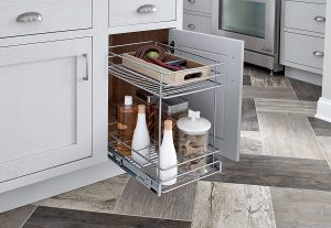 ClosetMaid 32104 Premium Wide 2-Tier Kitchen Cabinet Pull-Out Basket