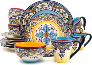Euro Ceramica Zanzibar Collection 16 Piece Dinnerware Set