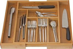 Home-it Expandable Utensil Flatware Dividers-Kitchen Drawer Organizer