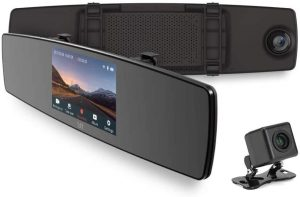 Best Car Cameras - YI Mirror Dash Cam, Dual Dashboard Camera Recorder