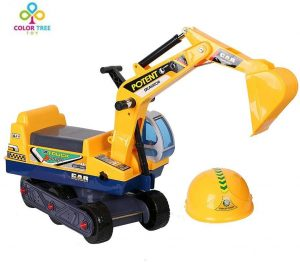 COLOR TREE Ride-on Excavator