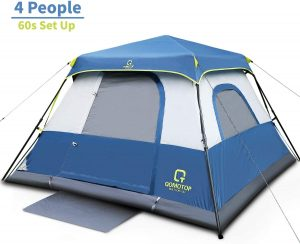 OT QOMOTOP Tents, 4 Person 60 Seconds Set Up Camping Tent