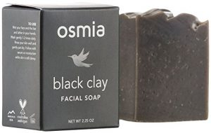 Osmia Black Clay Cleansing Facial Soap - Hydrating Australian Clay