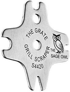 The Sage Owl - The Grate Grill Scraper - Standard Stainless Steel