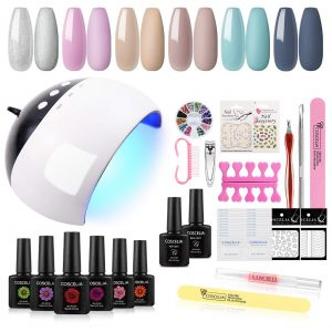 Gel Nail Polish Starter Kit with 24W Nail Light Lamp