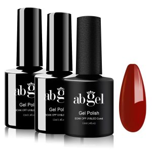 Abgel Gel Top Coat Matte Nail Polish Set, No Wipe Gel Base and Top Coat Nail Polish