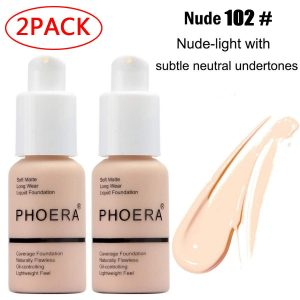 Best Foundation - Phoera Foundation,Durable waterproof matte foundation
