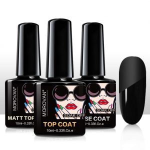 Best Nail Top & Base Coats - Morovan Gel Top Coat and Base Coat Set