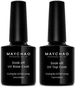 MAYCHAO Gel Base Coat and Top Coat Set
