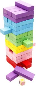 Lewo Wooden Stacking Board Games Building Blocks for Kids