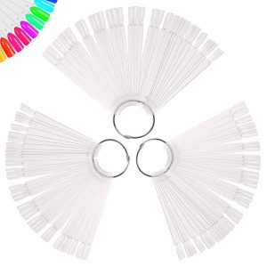 Clear Nail Swatch Sticks with Ring