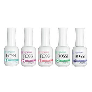 ROSSI Dip Powder 5 Essentials Kit with Primer, Base and Top Coat, Activator and Brush Saver Kit