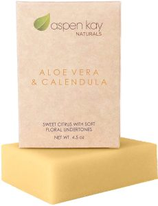 Aloe Vera & Calendula Soap, 100% Natural & Organic