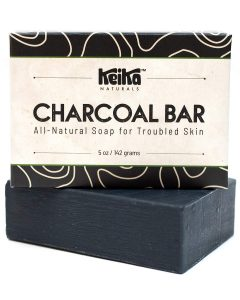 Best Face Bars - Keika Naturals Charcoal Black Soap Bar for Acne, Eczema, Psoriasis