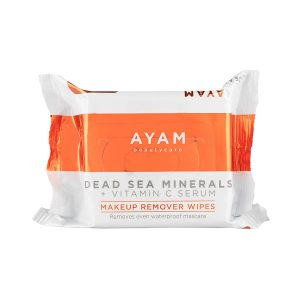 Best Face Cloths & Towelettes - AYAM Beautycare Dead Sea Minerals + Vitamin C Serum Makeup Remover Wipes
