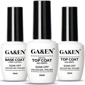 No Wipe Gel Matte Mirror Top Coat Base Coat