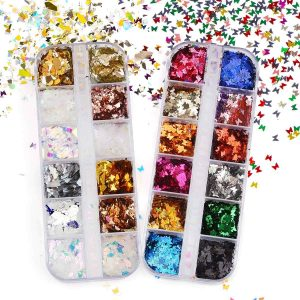 Holographic Chunky Glitter Flake Sequins Manicure Pedicure Face