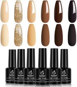 Roasted Chestnuts Collection 6 Colors Fall Winter Chocolate Brown Gel Polish Kit