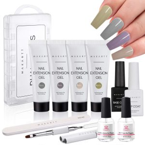 Best Nail Thickening Solution - Makartt Poly Nail Extension Kit Bundle with Nail Dehydrator and Nail Primer Kit