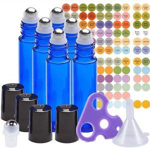 Ultimate Essential Oil Roller Bottles Set With Stainless Steel Balls