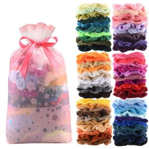 Premium Velvet Hair Scrunchies Hair Bands for Women