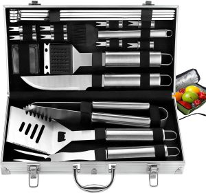 Best Mens Gifts - ROMANTICIST 20pc Complete Grill Accessories Kit with Cooler Bag