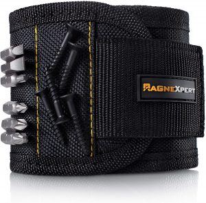 Best Mens Gifts - Magnexpert Magnetic Wristband for Holding Tools, Screws, Nails, Bolts, Drilling Bits.