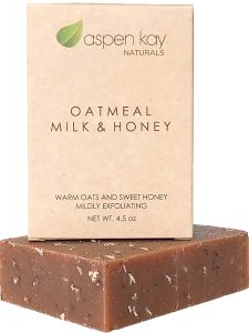 Oatmeal Soap Bar. With Organic Raw Honey, Goats Milk, Organic Shea Butter