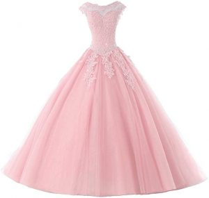 Ball Gown Quinceanera Dresses Tulle Long Prom Party Gowns