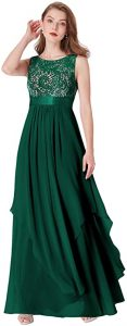 Ever-Pretty Elegant Sleeveless Round Neck Party Evening Dress